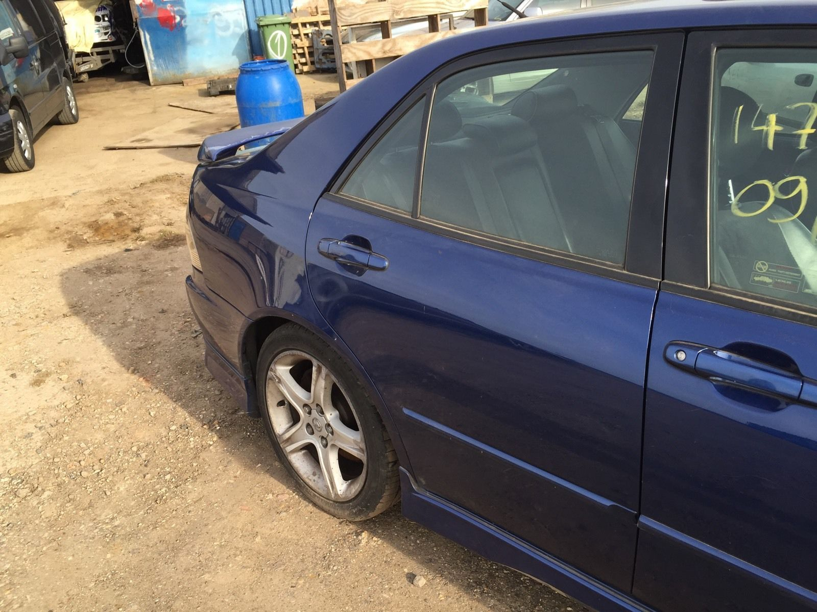99-05 LEXUS IS200 IS300 COMPLETE DOOR DRIVER SIDE REAR OSR BLUE 8N8 GOOD COND & 99-05 LEXUS IS200 IS300 COMPLETE DOOR DRIVER SIDE REAR OSR BLUE ...